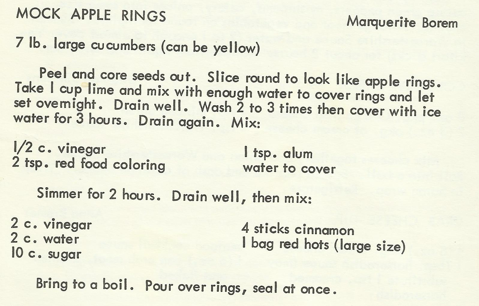 Mock Apple Rings
