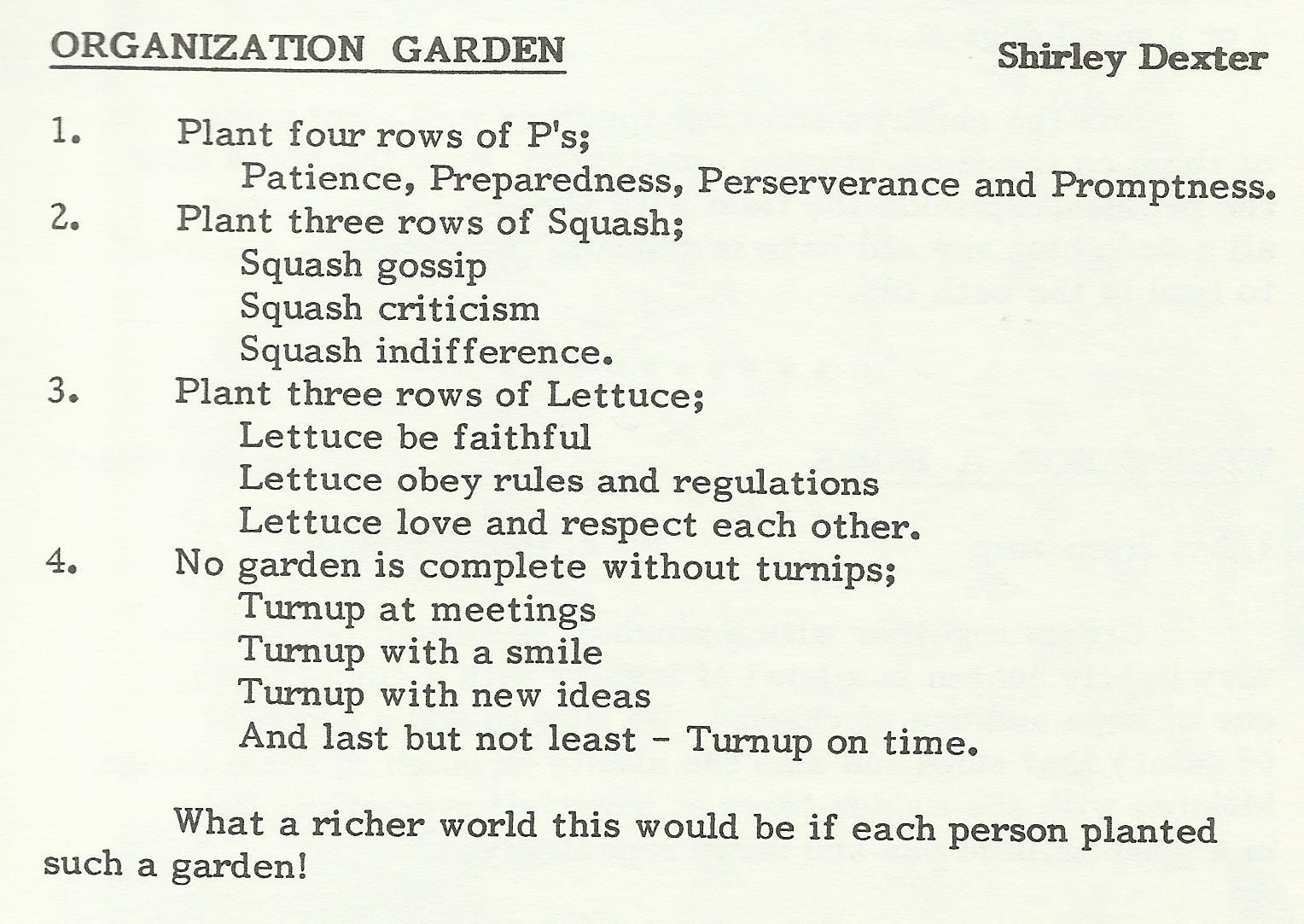 Organization Garden