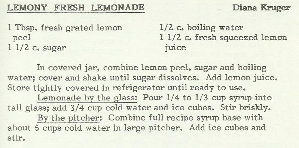 Lemony Fresh Lemonade