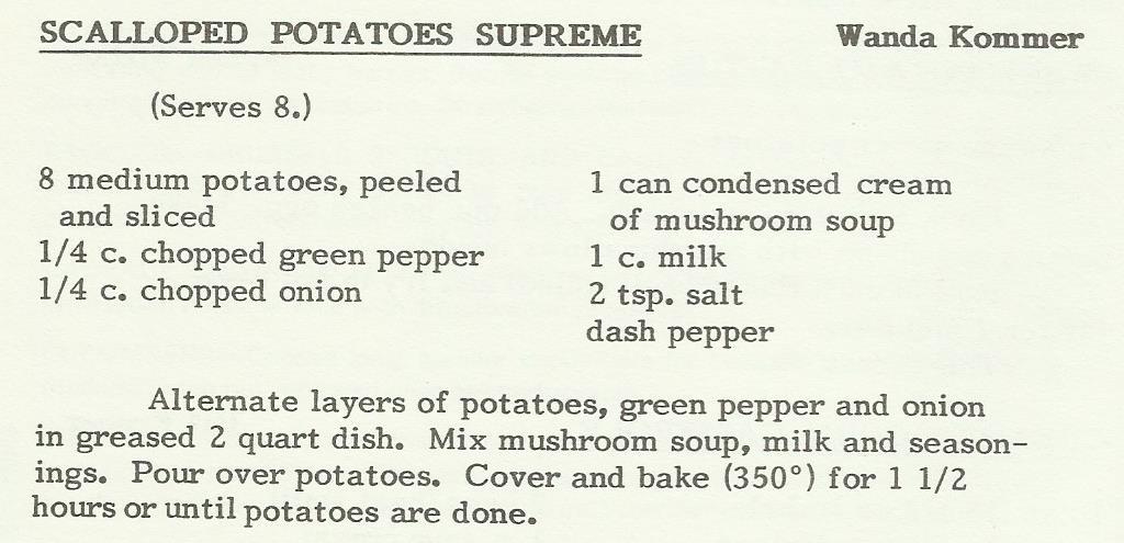 Scalloped Potatoes Supreme