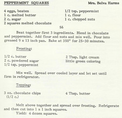 Peppermint Squares