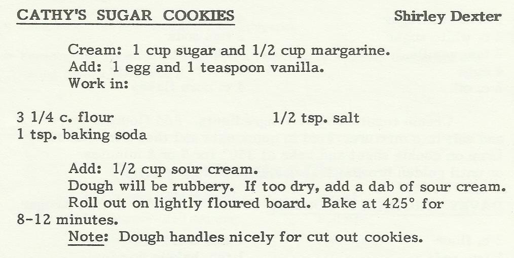 Cathy's Sugar Cookies