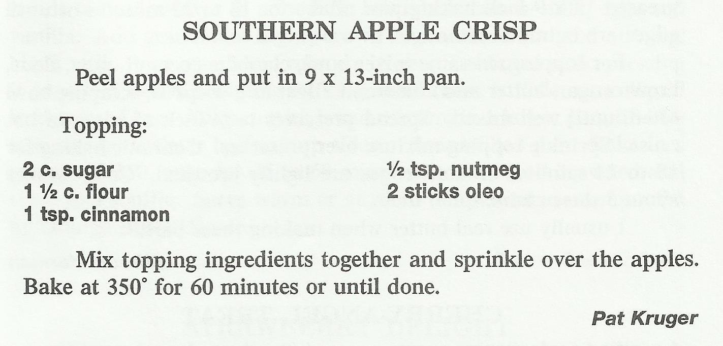 Southern Apple Crisp