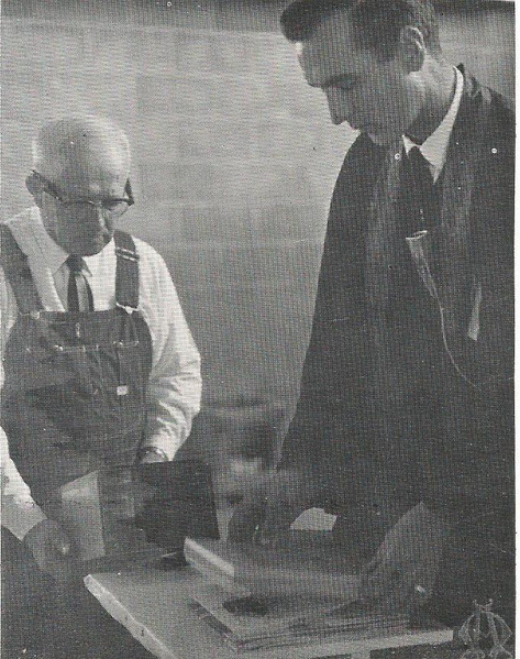 Martin Wittke Building the Box for the Cornerstone for New Church