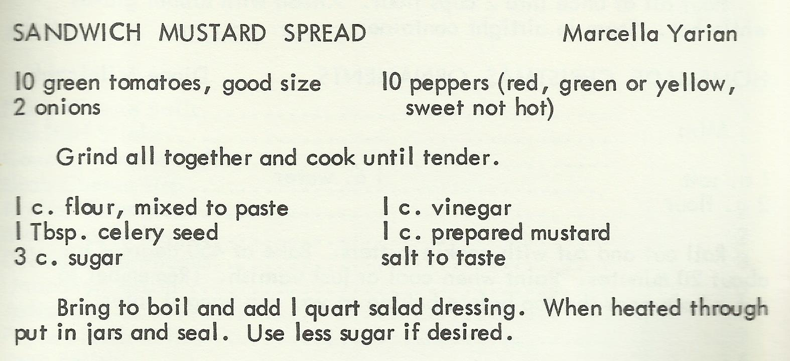 Sandwich Mustard Spread