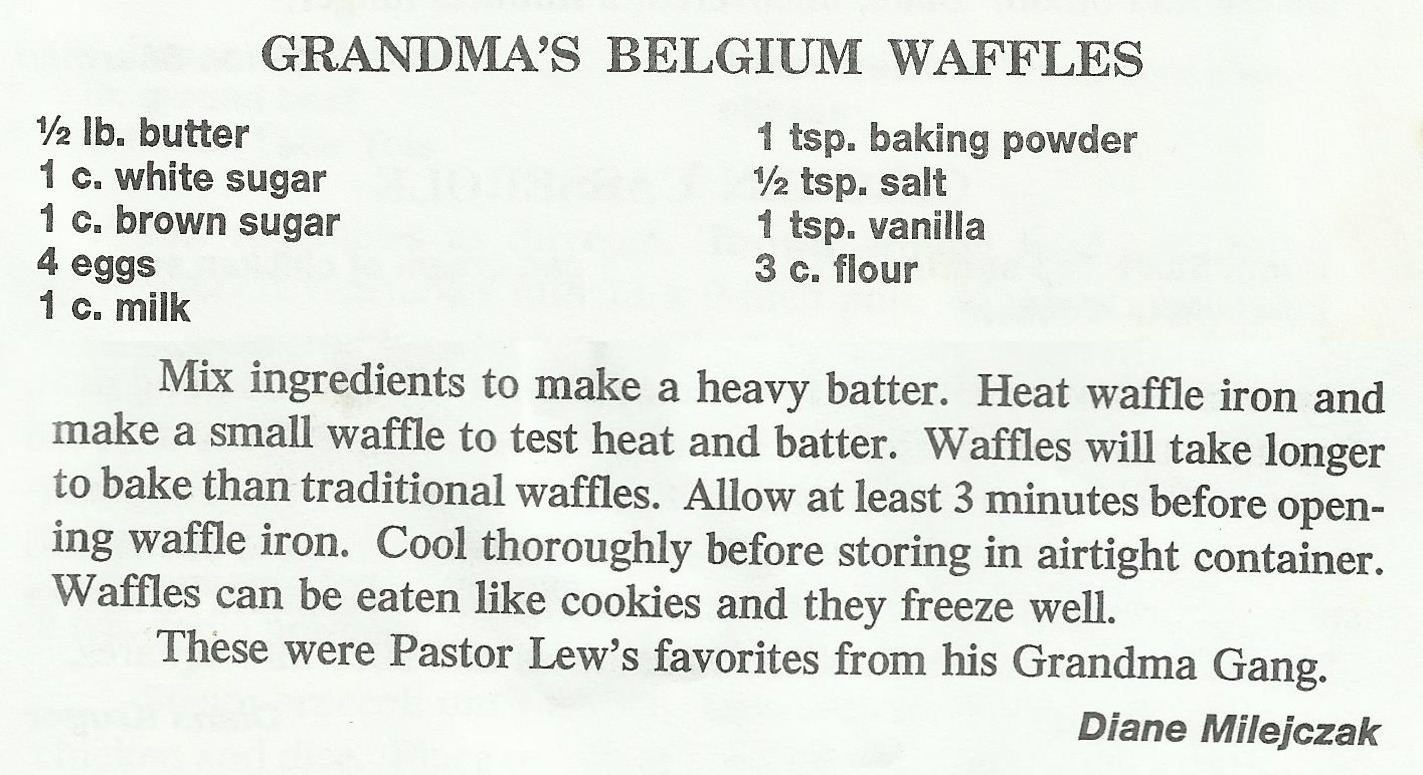 Grandma's Belgium Waffles