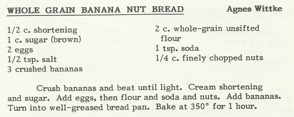 Whole Grain Banana Nut Bread