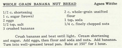 Whole Grain Banana Nut Bread