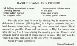 Hash Browns and Cheese