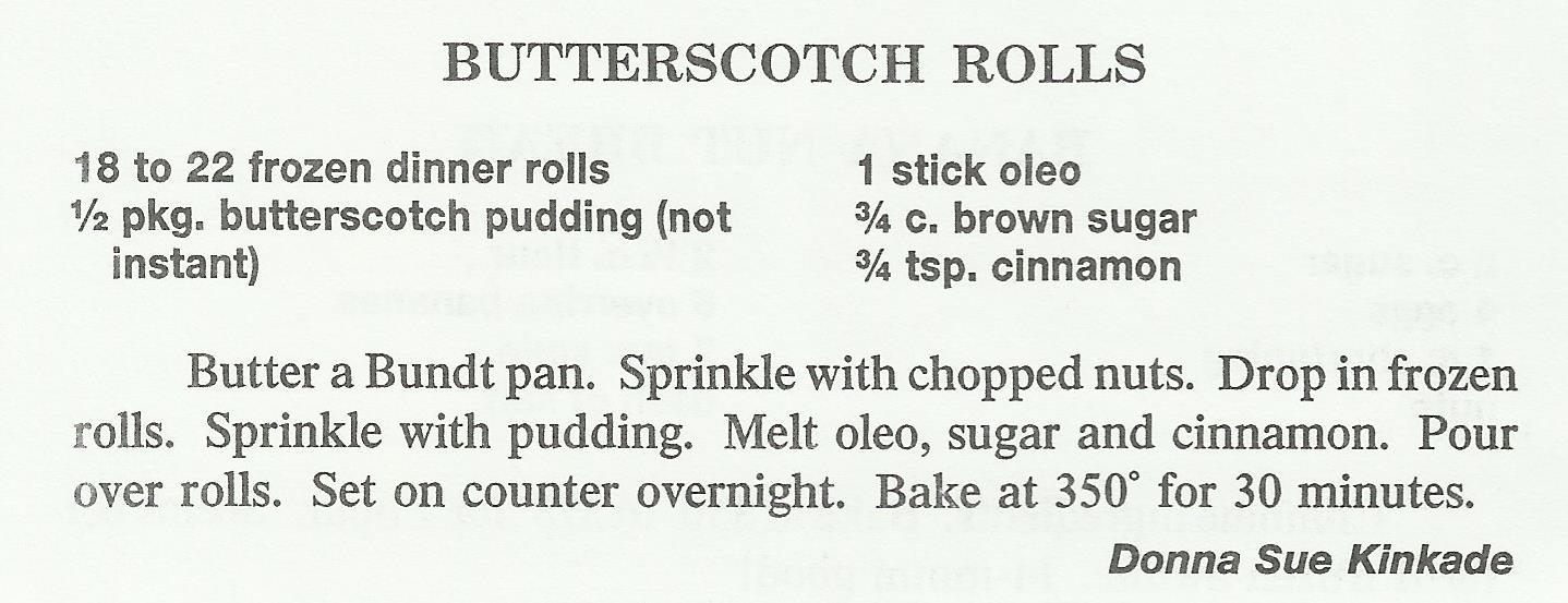Butterscotch Rolls
