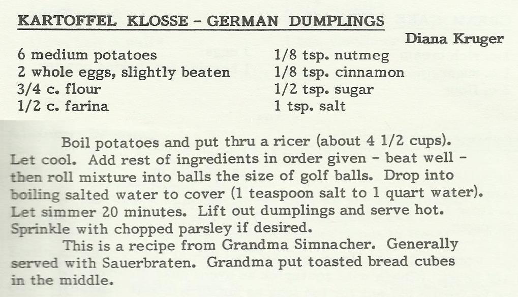 Kartoffel Klosse-German Dumplings