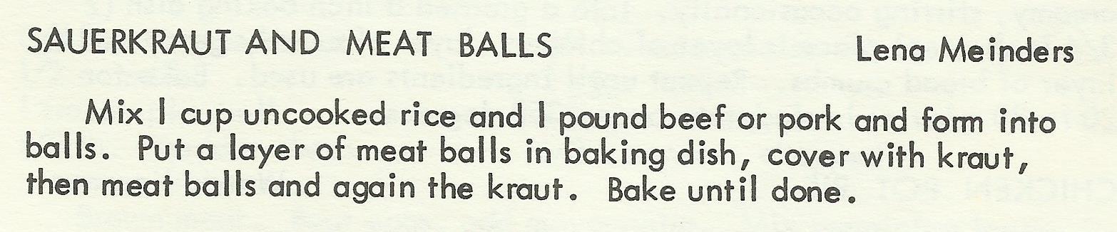 Sauerkraut and Meat Balls