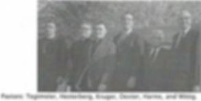 Pastors Tegtmeier, Hesterberg, Kruger, Dexter, Harms, and Wittig of St. John Lutheran Church Metropolis IL