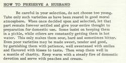How to Preserve a Husband