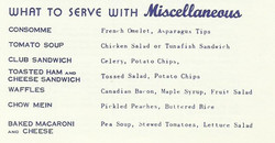 What to Serve With Miscellaneuos