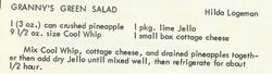 Granny's Green Salad