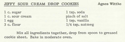 Jiffy Sour Cream Drop Cookies