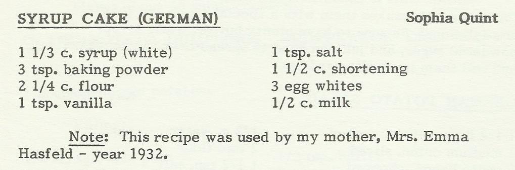 Syrup Cake (German)
