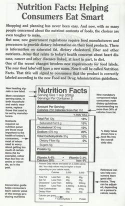 Nutrition Facts; Helping Consumers Eat S