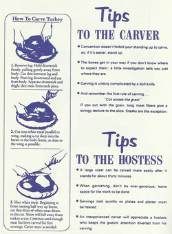 Tips to the Carver and Hostess