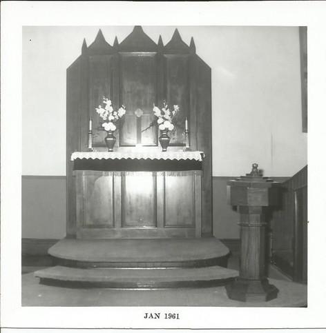 Altar in Old Brick Church