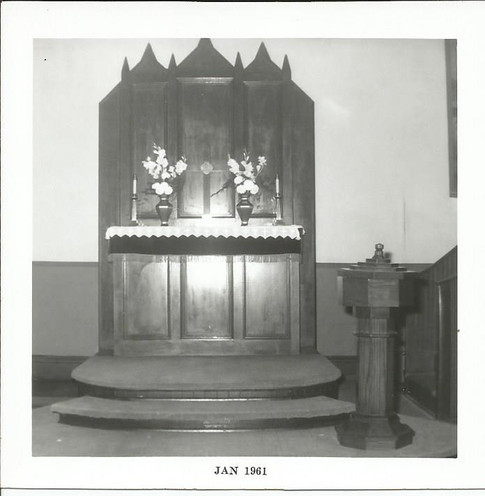 Altar in Old Brick Church