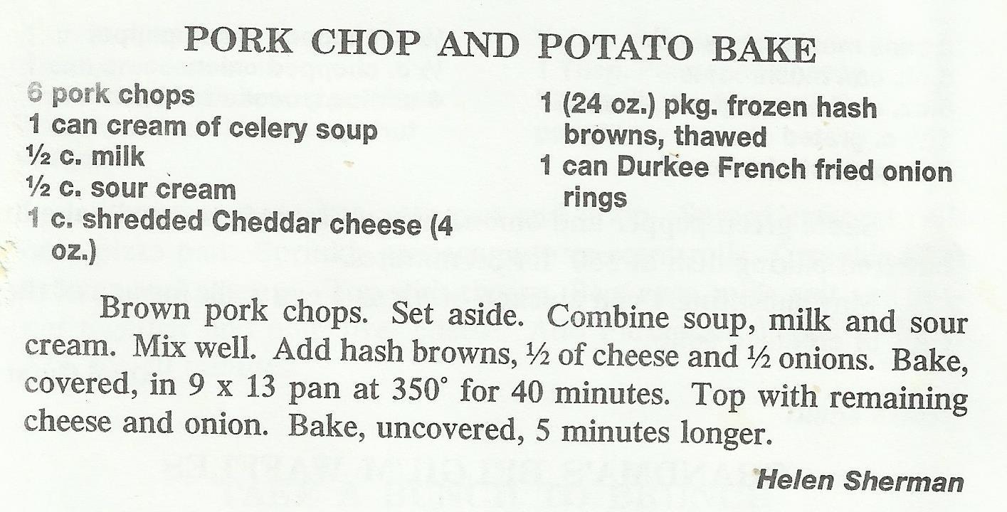 Pork Chop and Potato Bake