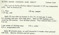 Butter Baked Chicken and Gravy
