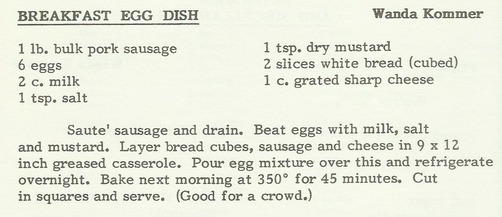 Breakfast Egg Dish