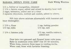 Banana Devil's Food Cake