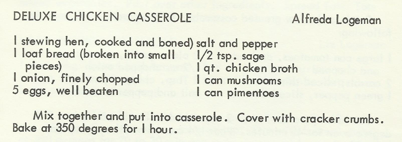 Deluxe Chicken Casserole