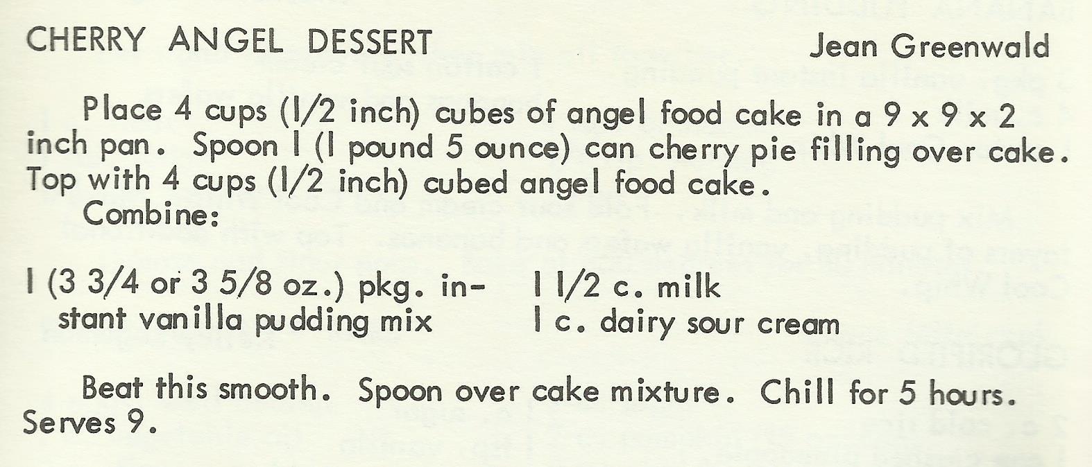Cherry Angel Dessert