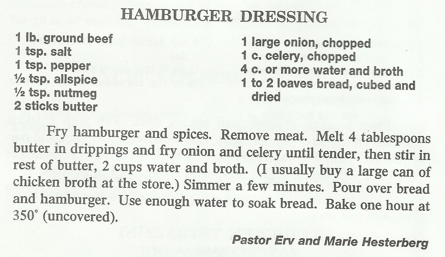 Hamburger Dressing