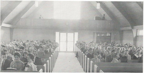 Congregation for First service in New Church
