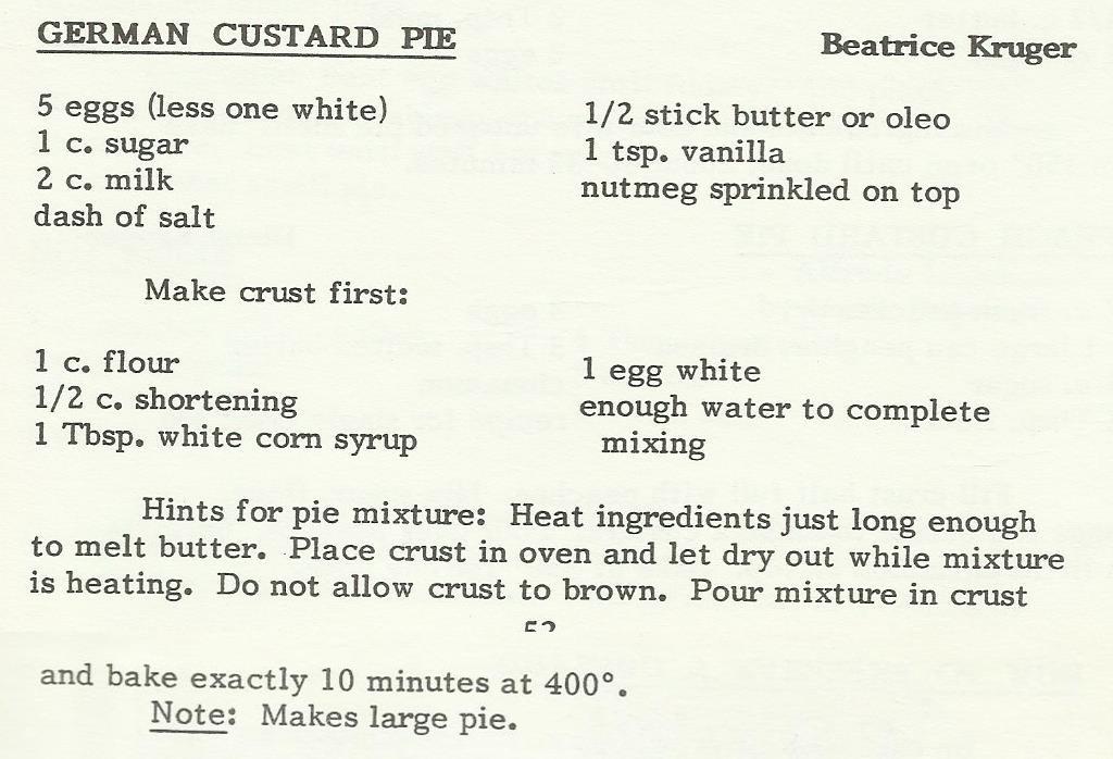 German Custard Pie