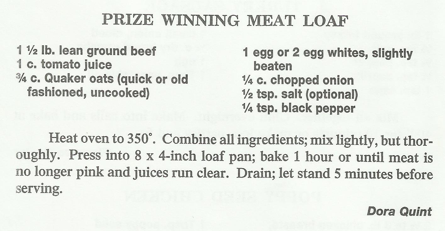 Prize Winning Meat Loaf 1