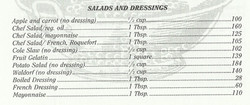 Calorie Counter for Salads and Dressings
