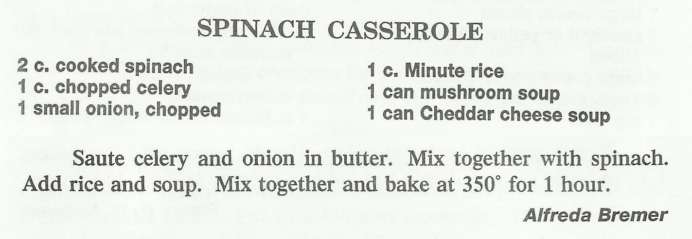 Spinach Casserole