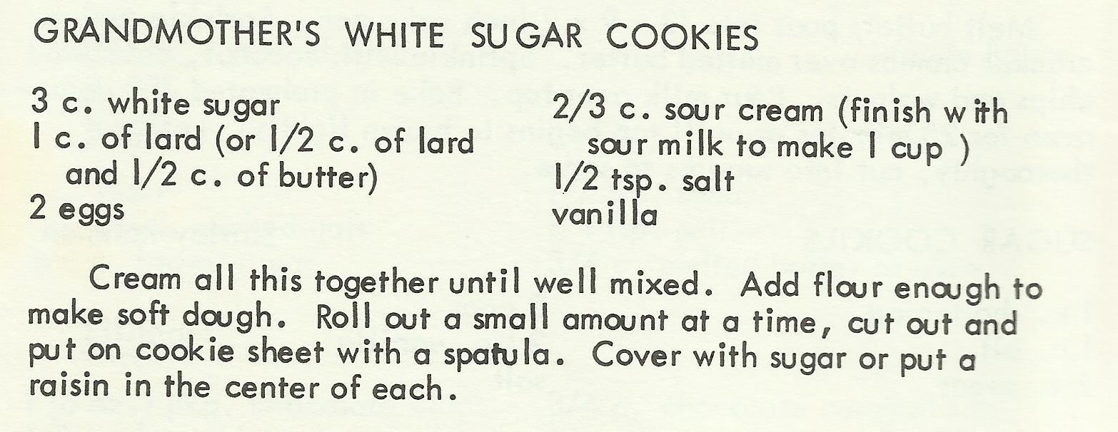 Grandmother's White Sugar Cookies