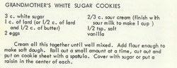 Grandmother's White Sugar Cookies
