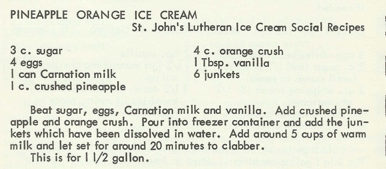 Pineapple Orange Ice Cream