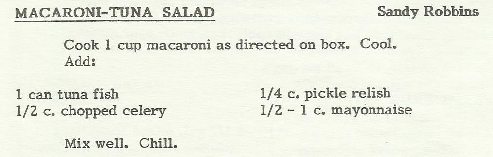 Macaroni-Tuna Salad