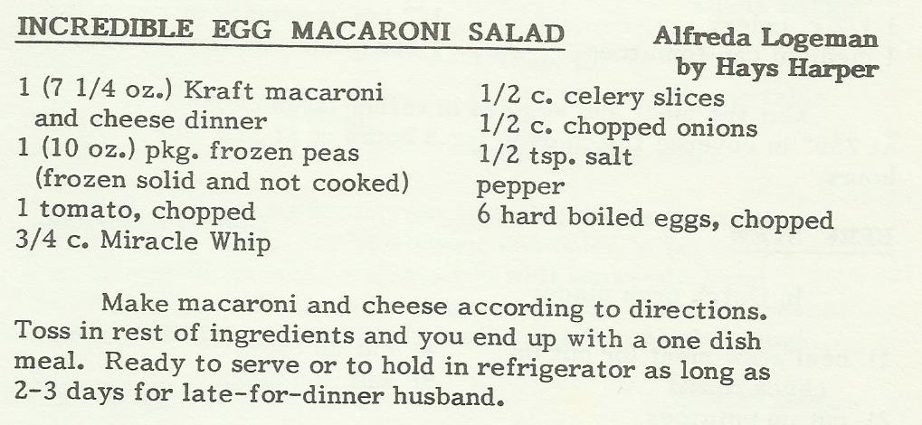 Incredible Egg Macaroni Salad