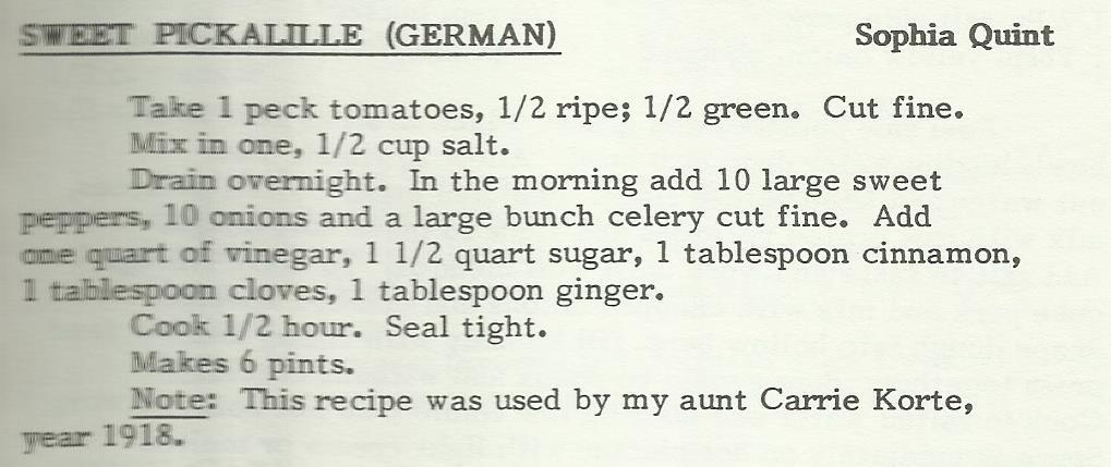 Sweet Pickalille (German)