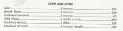 Calorie Counter for Fish and Fowl