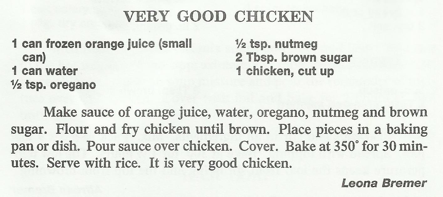 Very Good Chicken