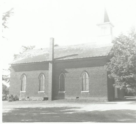 Side view of Old Brick Church