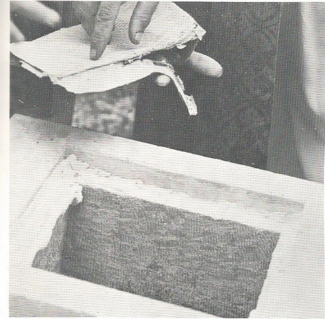 Historic Papers Being Removed From Old Brick Church Corner Stone