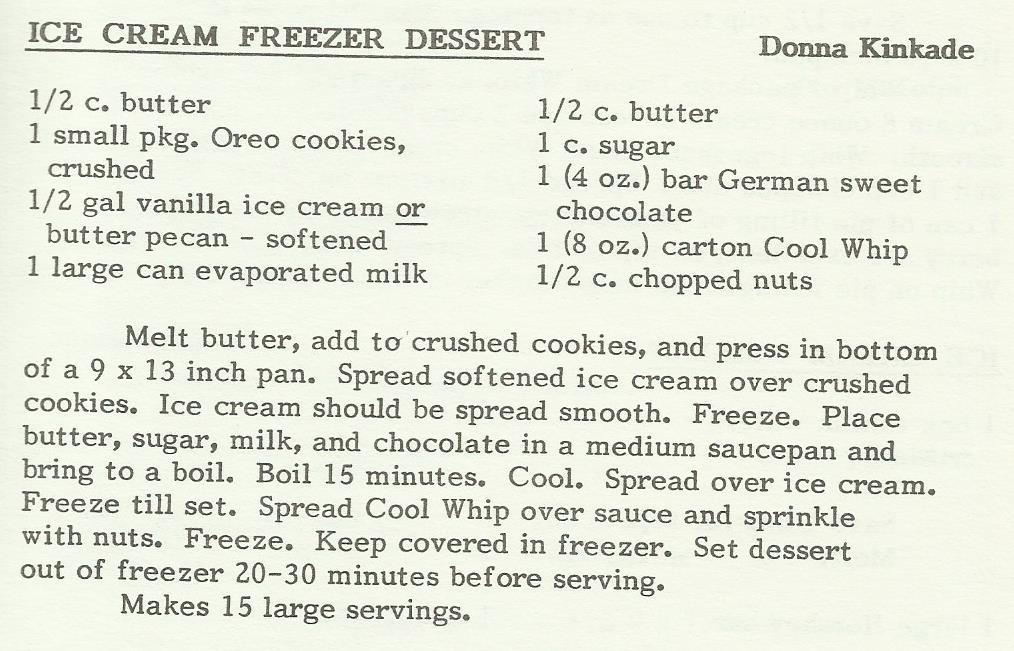 Ice Cream Freezer Dessert