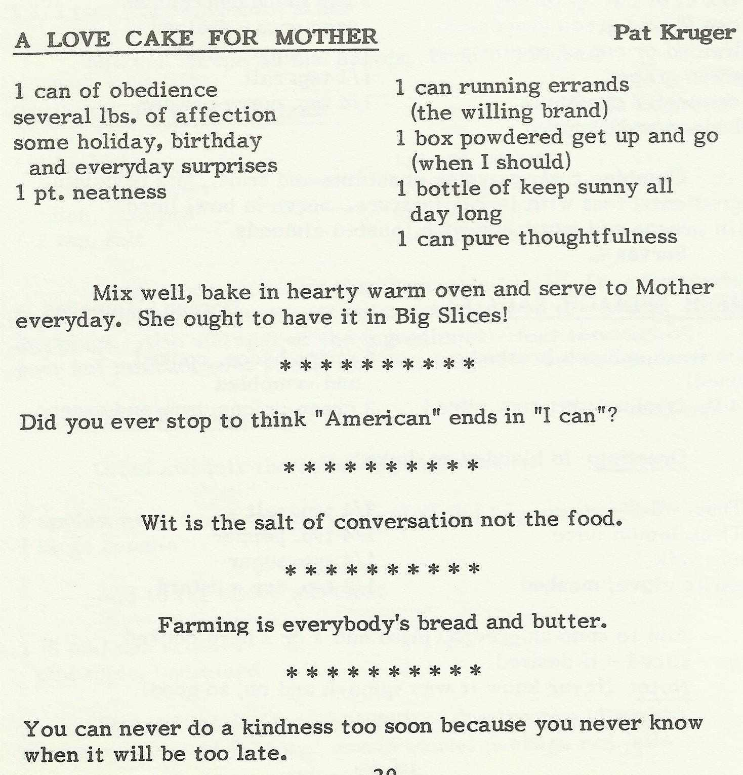 A Love Cake For Mother